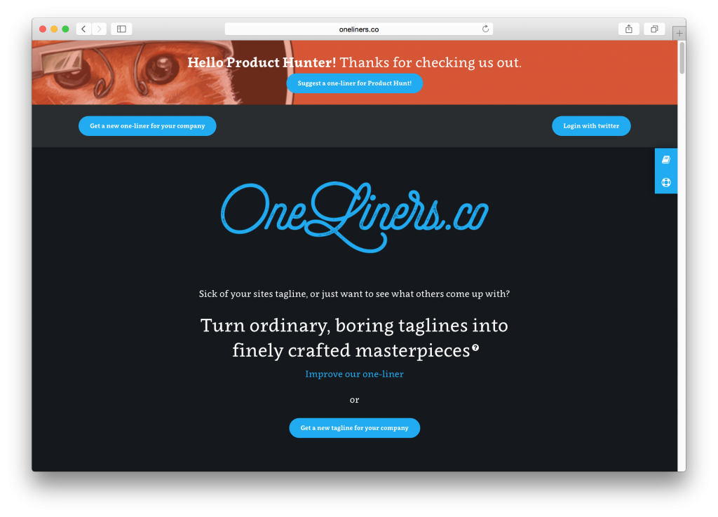 Oneliners - Product Hunt